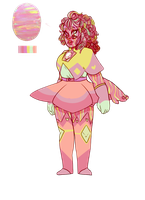 Pink Opal [ART TRADE] by SmasherlovesBunny500