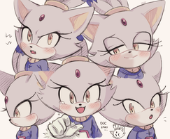 Blazes expressions by freedomfightersonic
