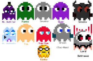 All Pac-Man Ghosts by GraysoGoodwn