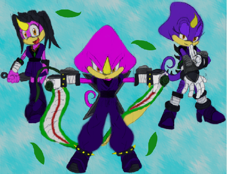 Espio and his Daugters PS'd by MasterSkadu