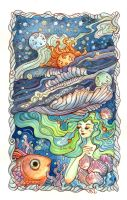 Ocean and Heavenly Bodies by AniaMohrbacher