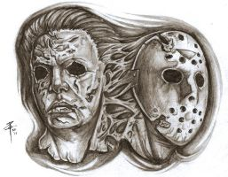 michael myers jason voorhees by Nehemya