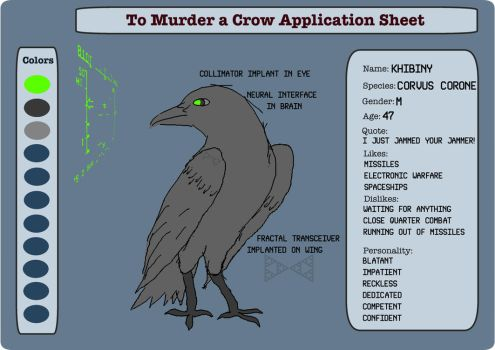 Khibiny (To Murder a Crow application sheet) by HYPPthe
