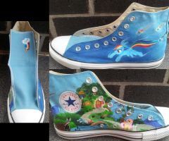 Rainbow Dash Shoes by GamerGirl84244