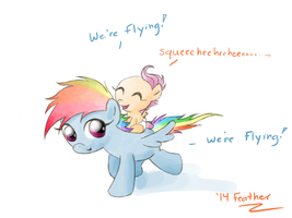 Flying Fillies by feather-chan