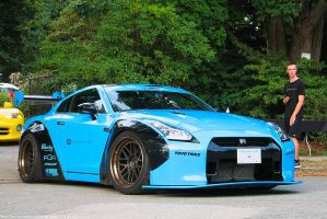 Baby Blue Liberty Walk GT-R by SeanTheCarSpotter