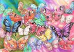 Colorful Butterflies by dawndelver