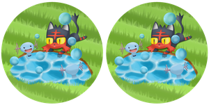 Spot the difference: Litten Playing with Woopers