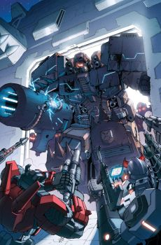 Transformers RID #7 cover colors by khaamar