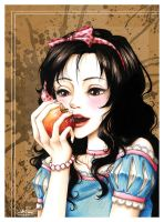 Snow White Facing Her Death by Loonaki