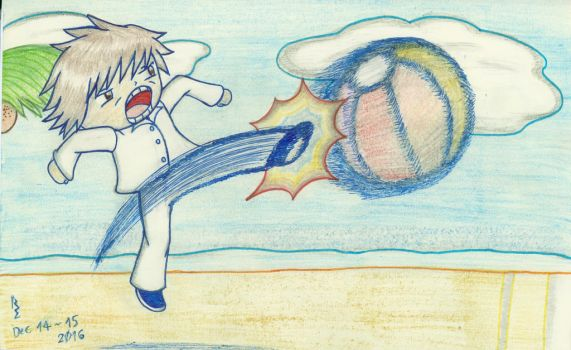 RS Kicks the Beach Ball - Reference to Tekken Ball by Rage-DSSViper-Sigma