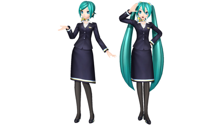 MMD - PDX Cabin Attendant Style A - 39 + DL by Nala-Chan-07