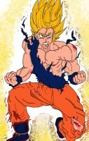 Goku super sayan by DannyFCool