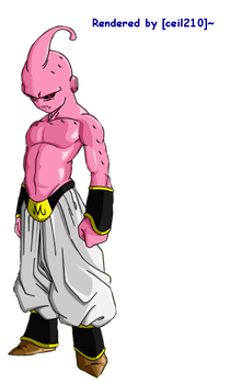 Kid Buu Render by ceil210