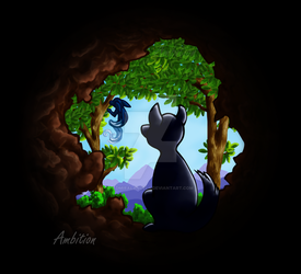 Mountain Cave Entrance by AdmiralAngela