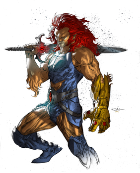 Lion-O (Coloring over Guile Sharp's line art) by danielmchavez
