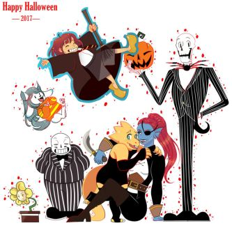 UNDERTALE - Happy Halloween by MrsBuffoonery