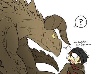 Friendly Deathclaw? by RakkuGuy