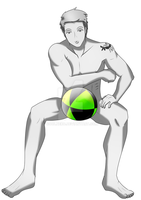 Male Wii Fit Trainer: Come play with my ball by coolneko