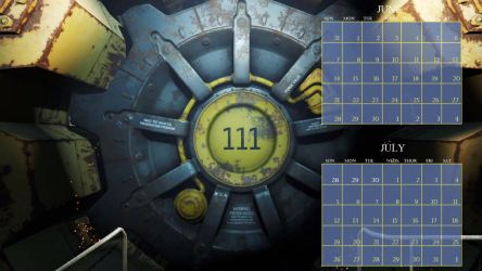 Vault 111 calendar June and July by PIDKID