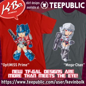 NEW Transformer Gals Shirt Designs by kevinbolk