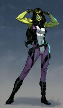 She-Hulk - Harrison Tombra Yinfaowei colors by SpiderGuile