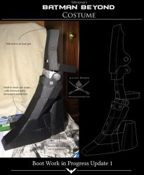 Batman Beyond Cosplay - Work in Progress Part 6 by SaberPeep