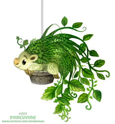 Daily Paint 2111. Porcuvine by Cryptid-Creations