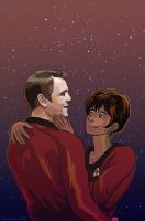 ST: TOS Scotty x Uhura by TechnoRanma