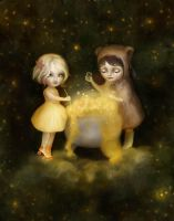 Brewing Stars with Little Bear by meluseena