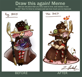 Draw this again : 1 year and a half later by Lucky-Trident