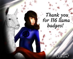Thanks for the Llama! by Adenlina