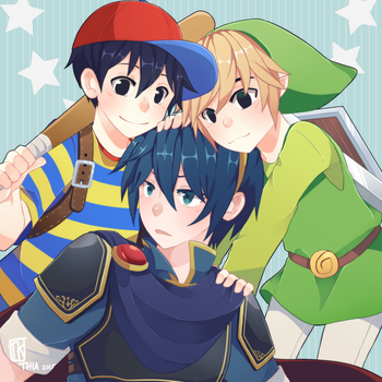 Trio bros by BottleWonderland