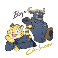 Cheetah and Buffalo by HiKazeDragon