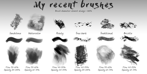 Texture brushes, free, Photoshop by Chickenbusiness