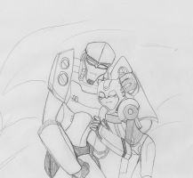 Megatron and Bumblebee by Dragonjg