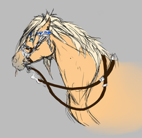 SOLIDER horse doodle by ShishiNoSeirei