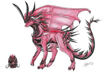 Rubika(Red Crystal Dragoness) by tomcio199214