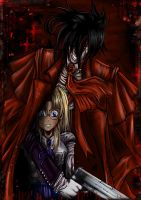 alucard and integra by papercake