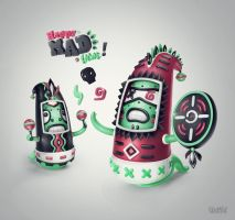 Mad Worms! by Untitled-I