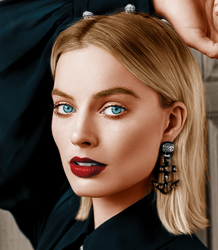 margot robbie colorization by steve--rogers