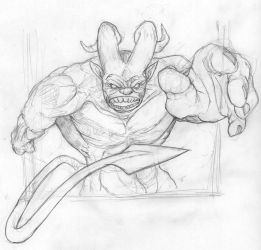 Demon pencils WIP by OcioProduction