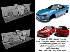 Skyline R34 Starter Tutorial by ragingpixels
