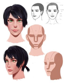head proportion/painting practice by Bedajh20
