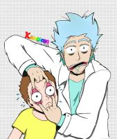 Rick and Morty - Fanart by KamaleoaDrawings