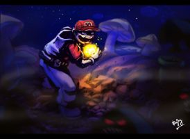 the real super mario by artnerdx