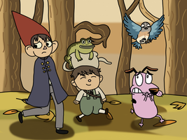 Courage Over the Garden Wall by AfroOtaku917