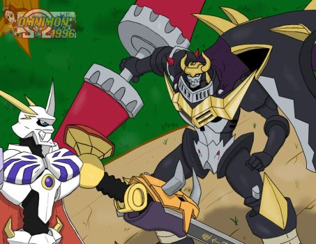 Omnimon vs DarkKnightmon *Remake* by Omnimon1996