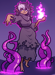 ART TRADE: tenta witch by Cubesona