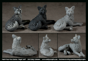 Paint-Your-Own Series : Regal Wolf by emilySculpts
